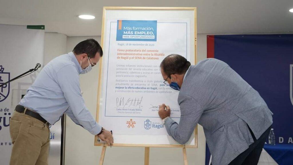 firma convenio sena alcaldia de itagui 3 ElMetro.com.co