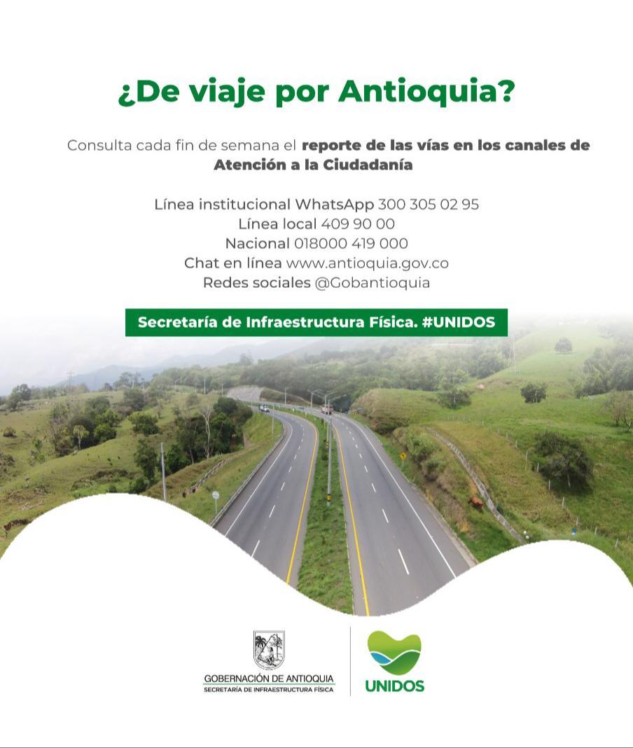Red vial Antioquia